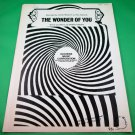 THE WONDER OF YOU Piano/Vocal/Guitar Sheet Music ELVIS PRESLEY © 1964