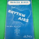 WABASH BLUES Sheet Music for Orchestra / Band WILL HUDSON © 1942