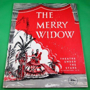 THE MERRY WIDOW Original 1956 Souvenir Program THEATRE UNDER THE STARS Vancouver