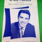 GO CHASE A MOONBEAM Vintage Piano/Vocal/Guitar Sheet Music JERRY VALE © 1958