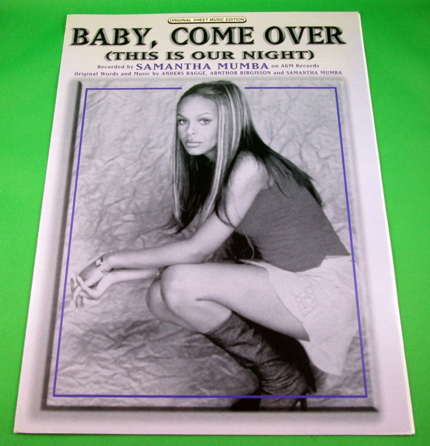 BABY, COME OVER (THIS IS OUR NIGHT) Original Sheet Music Edition SAMANTHA MUMBA