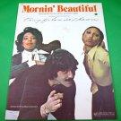 MORNIN' BEAUTIFUL Original Sheet Music TONY ORLANDO & DAWN © 1975 Cover Photo