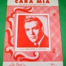 CARA MIA Vintage Piano/Vocal/Guitar Sheet Music DAVID WHITFIELD © 1954