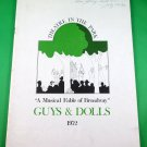 GUYS & DOLLS Souvenir Program THEATRE IN THE PARK Vancouver 1972