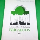 BRIGADOON Souvenir Program THEATRE IN THE PARK Vancouver 1972