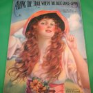 ALONG THE TRAIL WHERE THE BLUE GRASS GROWS Vintage Sheet Music © 1919