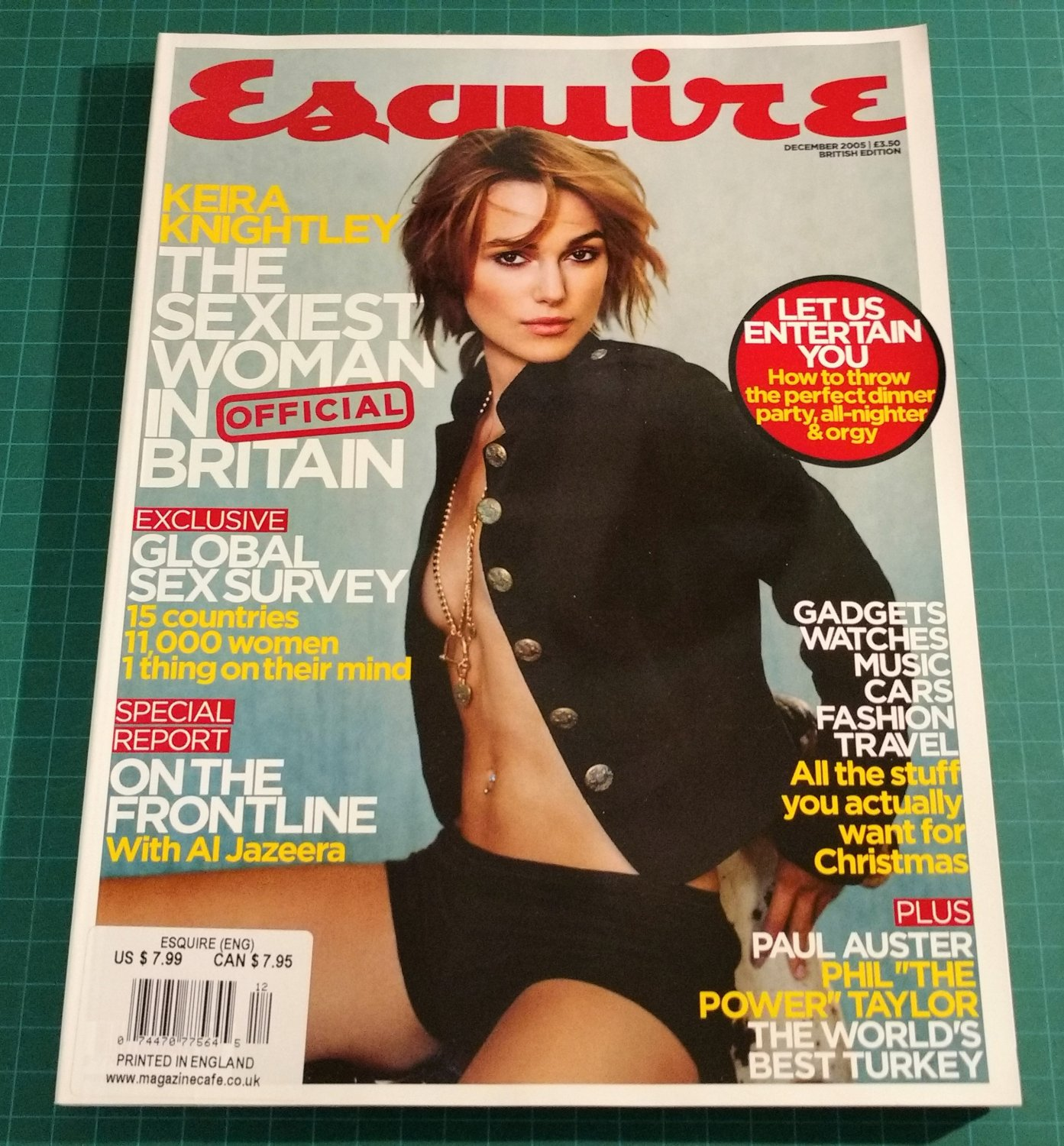 ESQUIRE MAGAZINE British Edition December 2005 Keira Knightley NEW UNREAD COPY!