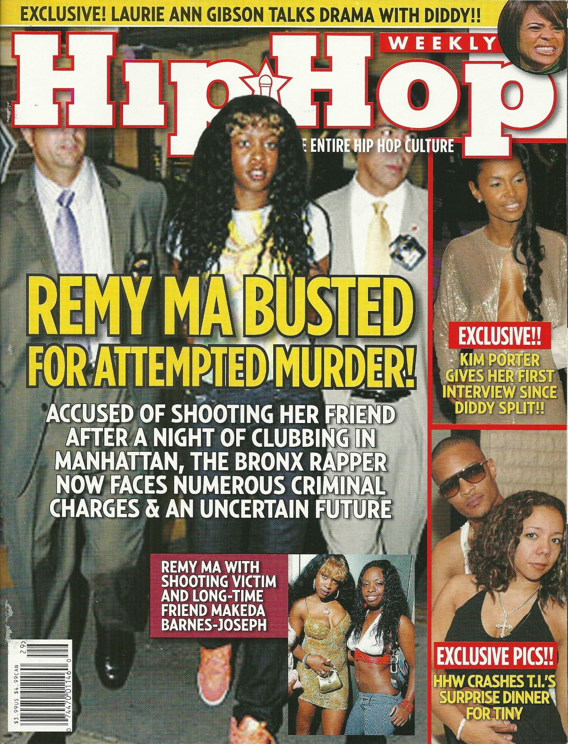 HIP HOP WEEKLY Vol. 2 #15 REMY MA BUSTED Laurie Ann Gibson KIM PORTER