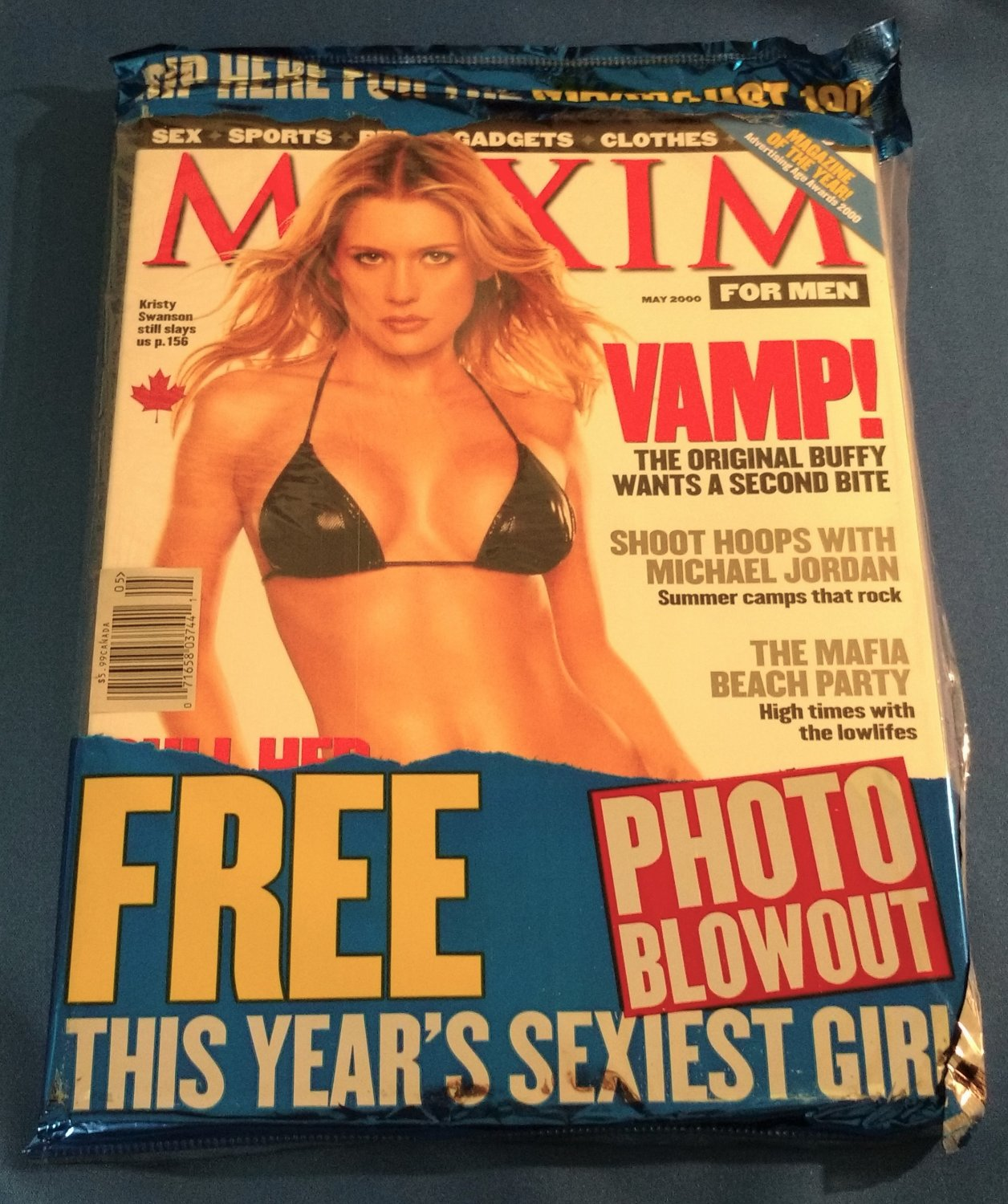 MAXIM MAGAZINE May 2000 Hot 100 KRISTY SWANSON Michael Jordan NEW SEALED COPY!