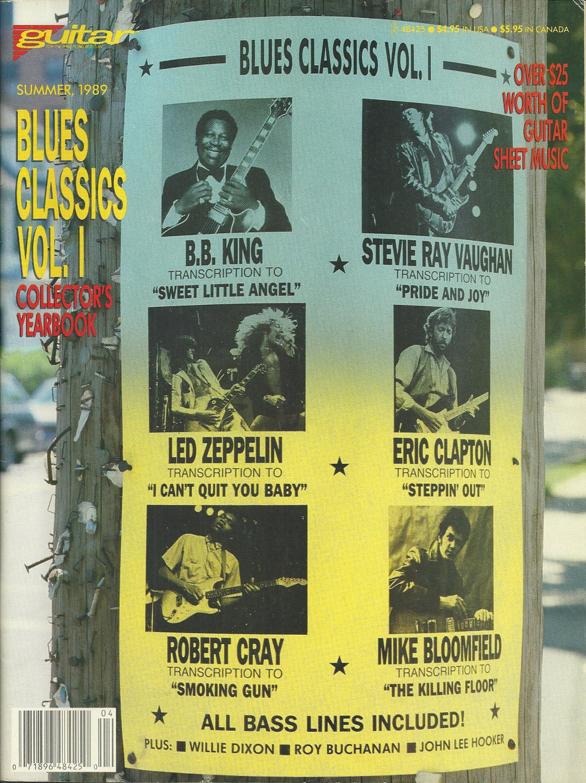 GUITAR MAGAZINE Blues Classics Vol 1 Collectors Yearbook Summer 1989 SHEET MUSIC