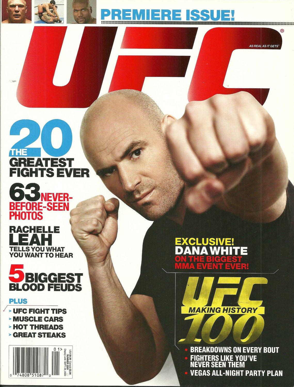 UFC MAGAZINE Ultimate Fighting Championship 2009 PREMIERE ISSUE Dana White NEW!