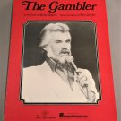 THE GAMBLER Piano Vocal Guitar Sheet Music KENNY ROGERS 1977 1991