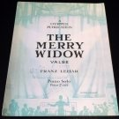 THE MERRY WIDOW Piano Solo Valse Sheet Music FRANZ LEHAR © 1907