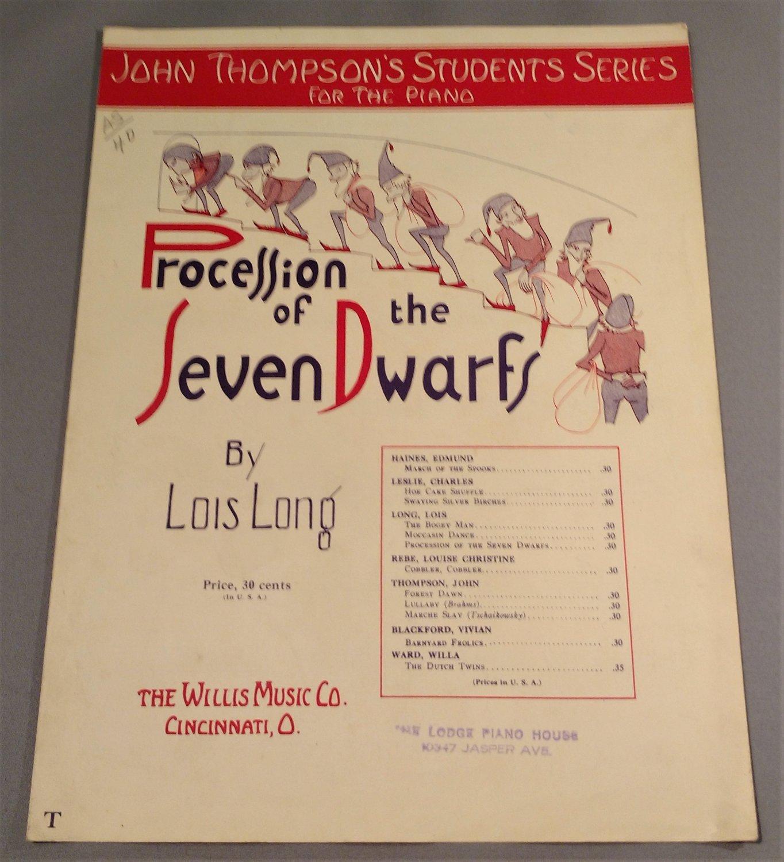 PROCESSION OF THE SEVEN DWARFS Piano Solo Sheet Music © 1936