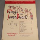 PROCESSION OF THE SEVEN DWARFS Piano Solo Sheet Music © 1936
