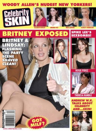 CELEBRITY SKIN MAGAZINE #162 2007 Rosie Perez BRITNEY SPEARS Theresa Randle NEW!