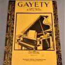 GAYETY Piano Solo Sheet Music by Harry Sosnik and D. Savino © 1935