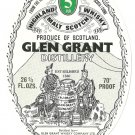 GLEN GRANT Highland Malt Scotch Whisky Label - 5 Years Old