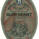 GLEN GRANT Highland Malt Scotch Whisky Labels - 21 Years Old (2 Labels)