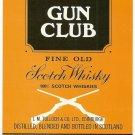 GUN CLUB Fine Old Scotch Whisky Label