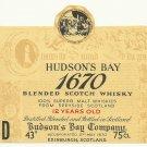 HUDSON'S BAY 1670 Blended Scotch Whisky Label