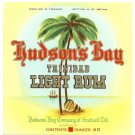 HUDSON'S BAY Trinidad Light Rum Label
