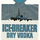ICE-BREAKER Dry Vodka Label