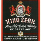 KING LEAR Fine Old Scotch Whisky Label