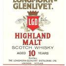 LONGMORN-GLENLIVET Highland Malt Scotch Whisky Label