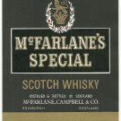 McFARLANE'S SPECIAL Scotch Whisky Label