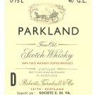 PARKLAND Fine Old Scotch Whisky Label