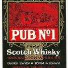 PUB NO. 1 Finest Scotch Whisky Label