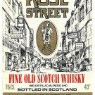ROSE STREET Fine Old Scotch Whisky Label