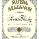 ROYAL ALLIANCE Fine Old Scotch Whisky Label