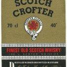 SCOTCH CROFTER Finest Old Scotch Whisky Label