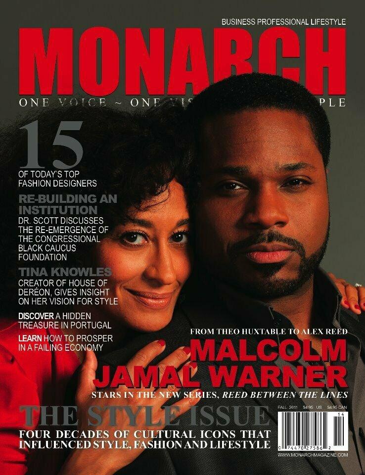 MONARCH MAGAZINE Fall 2011 MALCOLM JAMAL WARNER - 2-Page ABSOLUT VODKA Ad