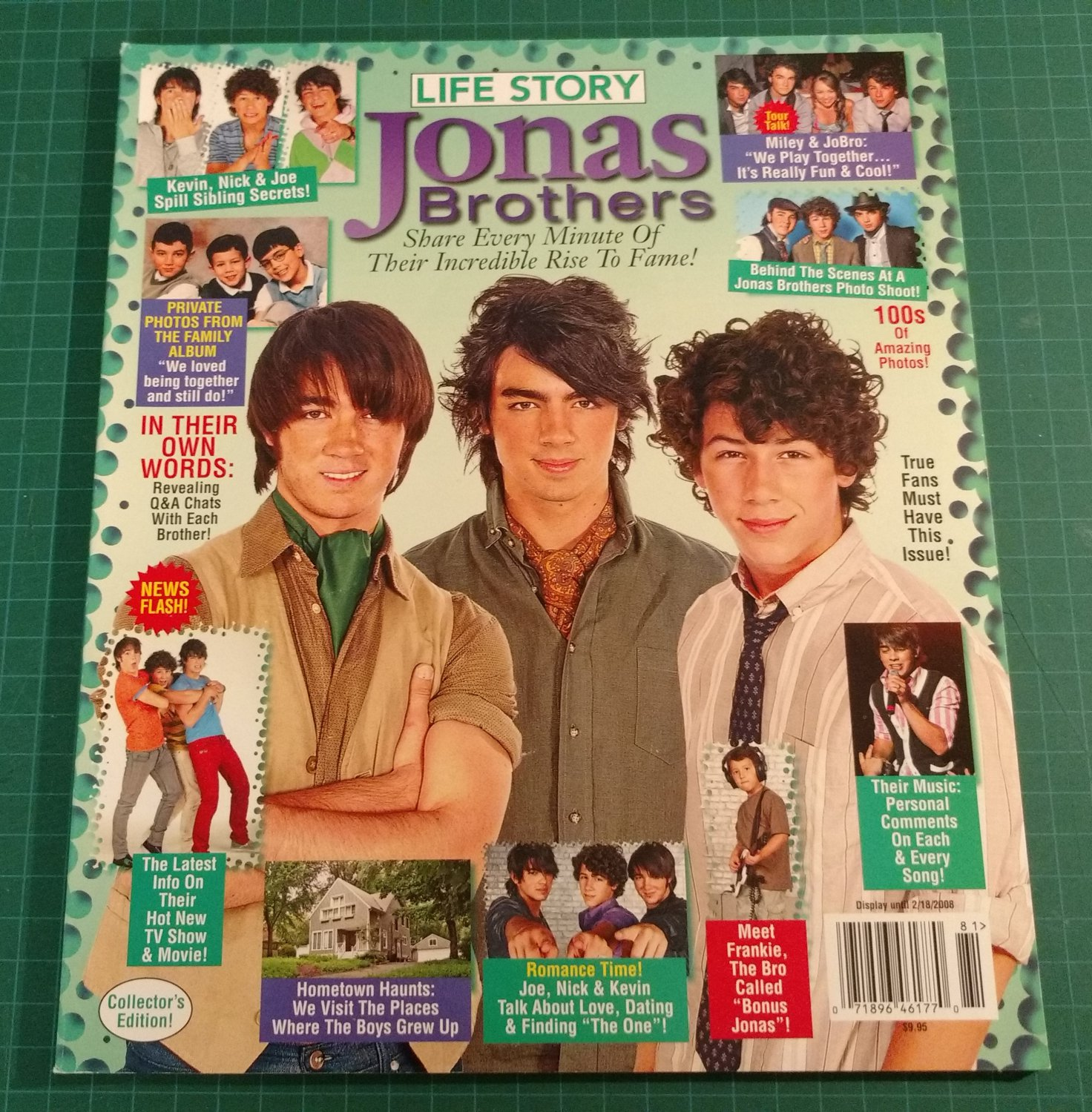 JONAS BROTHERS Life Story Collector's Edition 2008 Full Color NEW & UNREAD COPY!