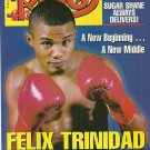 THE RING MAGAZINE April 2001 FELIX TRINIDAD Sugar Shane