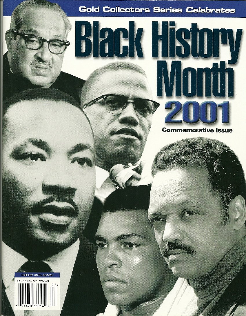 BLACK HISTORY MONTH 2001 Gold Collector Series Magazine NEW COPY!