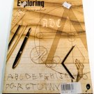 "EXPLORING MAGAZINE by The Exploratorium © 1995 ""Exploring The Alphabet"" w/ Poster"