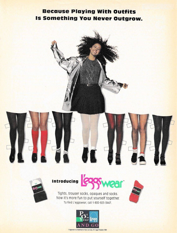 L'EGGS WEAR Advertisement Magazine Paper Dolls