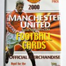 MANCHESTER UNITED 2000 Sealed Booster Pack of 5 Football (Soccer) Cards