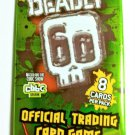 DEADLY 60 OFFICIAL TRADING CARD GAME Sealed Booster Pack of 8 Cards