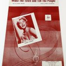 WAKE THE TOWN AND TELL THE PEOPLE Piano/Vocal/Sheet Music MINDY CARSON © 1955