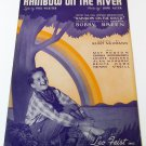 RAINBOW ON THE RIVER Piano/Vocal/Guitar Sheet Music BOBBY BREEN © 1936