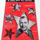 A MAN AND HIS DREAM Piano/Vocal/Guitar Sheet Music BING CROSBY © 1939