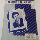 AROUND THE WORLD Piano/Vocal Sheet Music EDDIE FISHER © 1956