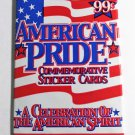 AMERICAN PRIDE COMMEMORATIVE STICKER CARDS Sealed Pack of 5 Trading Cards