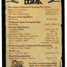 LORD OF THE RINGS 2003 Tournament Schedule DGMA Card