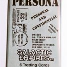 PERSONA GALACTIC EMPIRES Series IX Expansion / Booster Pack of 5 Trading Cards